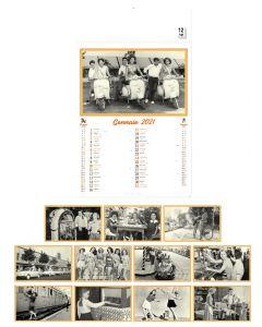 VINGTIEME - Calendrier  trimestriel dans un style vintage