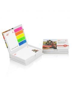 NOTE BOX - Ensemble de post-it et autocollants avec boîte